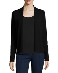 Elie Tahari Stori Cashmere Open Front Sweater Black Women's