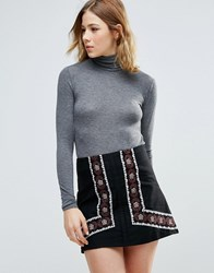 First And I Polo Neck Jumper Dgm Grey