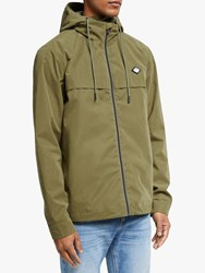 Scotch And Soda Hooded Jacket Military Green