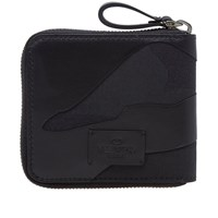 Valentino Bonded Camouflage Noir Zip French Wallet Black