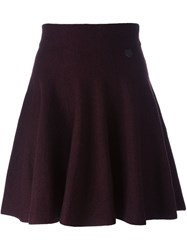 Kenzo 'Mini Tiger' Skater Skirt Pink And Purple