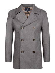 Aquascutum London Crawford Pea Coat Grey