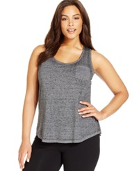 Style And Co. Plus Size Pocketed Tank Top Deep Black