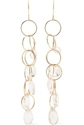 Melissa Joy Manning 14 Karat Gold Topaz Earrings One Size