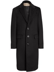 Burberry Wool Cashmere Tailored Coat Black
