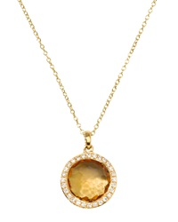 Ippolita Rock Candy 18K Gold Mini Lollipop Necklace In Citrine And Diamond