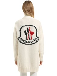 Moncler Gamme Rouge Cashmere Blend Tricot Long Cardigan