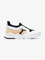 Robert Clergerie White Black And Yellow Salvy Leather Sneakers