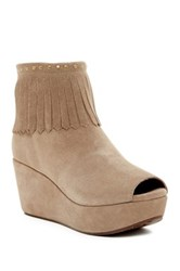 Chocolat Blu Wilshire Fringe Detailed Bootie Gray