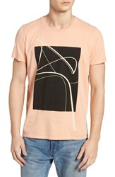 Vestige Curved Lines Graphic T Shirt Clay