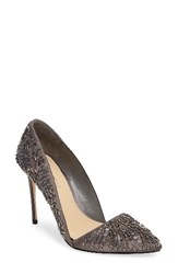 Imagine By Vince Camuto Women's Ova D'orsay Pump Storm Grey Satin