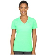 Adidas Ultimate S S V Neck Tee Solar Lime Matte Silver Women's T Shirt Green