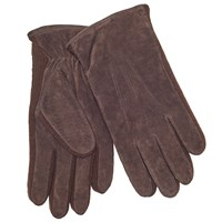John Lewis Suede Sandwich Top Stitch Gloves Brown