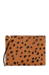 Fossil Large Cheetah Printed Leather Wristlet Multi