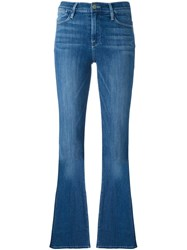 Frame Denim Mid Rise Flared Jeans Blue