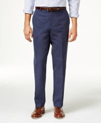 Tasso Elba Men's Island End On End Flat Front Pants Only At Macy's Indigo