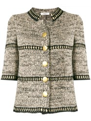 Charlott Fitted Knit Jacket Nude And Neutrals
