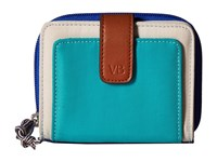 Vera Bradley Lighten Up Rfid Pocket Wallet Cool Lagoon Wallet Handbags Blue