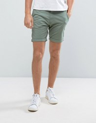 Selected Homme Slim Fit Chino Shorts With Stretch Sea Spray Green
