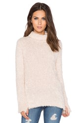 525 America Feather Yarn Funnel Neck Tunic Ivory