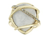 Cole Haan Banded Moonstone Ring Gold Moonstone Black Diamond Ring