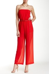 Iris Strapless Jumpsuit Red