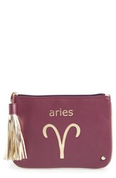 Stephanie Johnson 'Astrology' Large Flat Cosmetics Pouch Aries