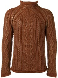 Jean Paul Gaultier Vintage Cable Knit Jumper Brown