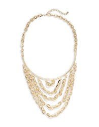 Design Lab Lord And Taylor Tiered Chainlink Necklace Gold