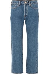 Gold Sign Goldsign The Relaxed Mid Rise Straight Leg Jeans Indigo