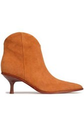 Sigerson Morrison Suede Ankle Boots Tan