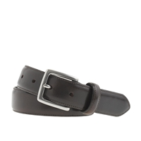J.Crew Stitched Edge Belt Dark Brown