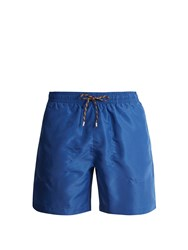 Stella Mccartney Mid Rise Swim Shorts Blue