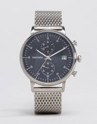 Sekonda Chronograph Mesh Watch In Silver Silver