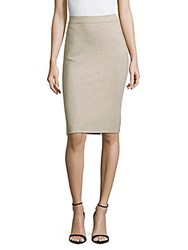 Max Mara Solid Heathered Skirt Beige