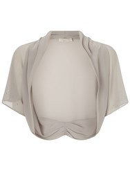 Jacques Vert Bling Chiffon Shrug Grey