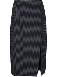 Altuzarra Pinstripe Pencil Skirt Black