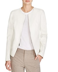 Vince Tailored Leather Jacket Winter White