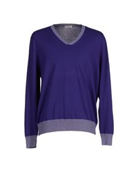 Heritage Knitwear Jumpers Men Purple