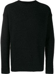 Laneus Crew Neck Jumper Black