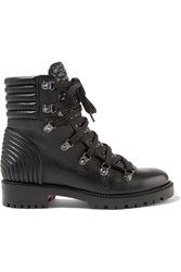 Christian Louboutin Mad Leather Ankle Boots Black