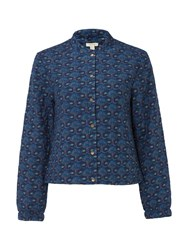 White Stuff Elora Quilted Printed Jacket Blue