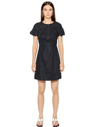 Emporio Armani Cotton Dress With Visible Zip