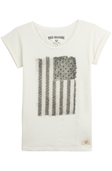 True Religion Embellished Cotton Jersey T Shirt