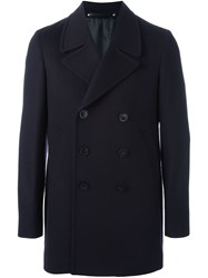 Paul Smith Double Breasted Peacoat Blue