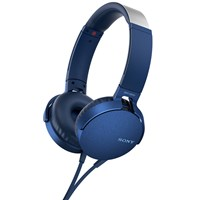 Sony Mdr Xb550ap Extra Bass On Ear Headphones With Mic Remote Blue