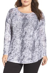 Vince Camuto Plus Size Women's Two By Canvas Sketches Drop Shoulder Top