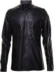 Lanvin Western Leather Shirt Jacket