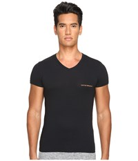 Emporio Armani Stretch Cotton Color Multipack V Neck Black Men's T Shirt
