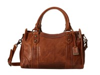 Frye Melissa Satchel Cognac Antique Pull Up Satchel Handbags Brown
